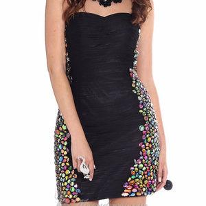 NWT  Alyce Paris Black 4328 Cocktail Dress